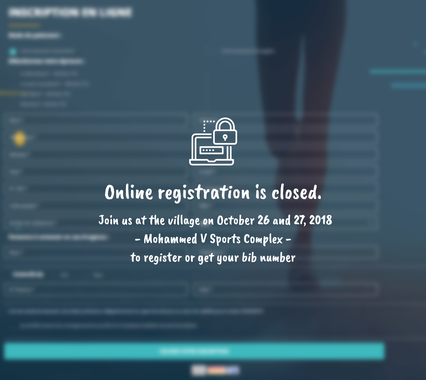 Online registration is closed